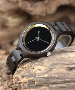 montre en bois metro marron naturelle